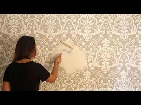 Coloring Joint Compound by How To Stencil A Beautifully Embossed Wall With Joint