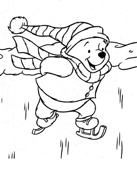 Disney Kleurplaat Winter by Winnie The Pooh Coloring Pages Coloring Home