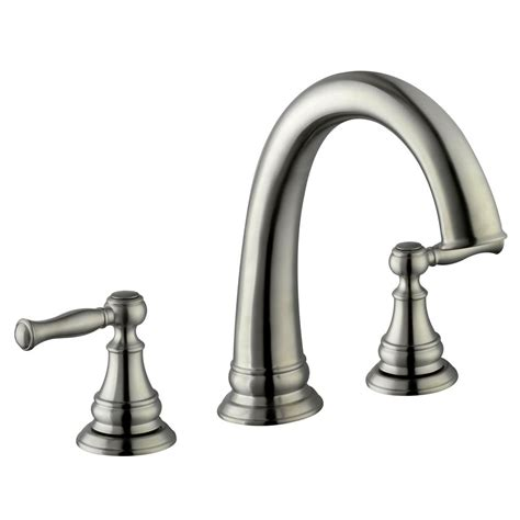 Brushed Nickel Tub Faucet by Glacier Bay Fairway 2 Handle Deck Mount Tub Faucet