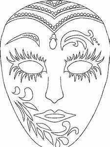 Mardi Gras Masks Coloring Pages - AZ Coloring Pages