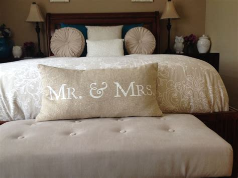 Decorative Pillows For Bedroom by Mr And Mrs Throw Pillow Bedroom Decor Home