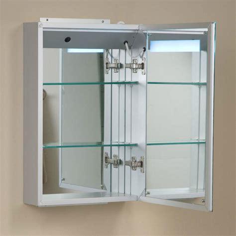 Brilliant Aluminum Medicine Cabinet With Lighted Mirror
