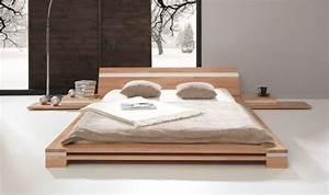 Lit Japonais Pas Cher : lit bat design en bois massif haut de gamme et pas cher ~ Premium-room.com Idées de Décoration