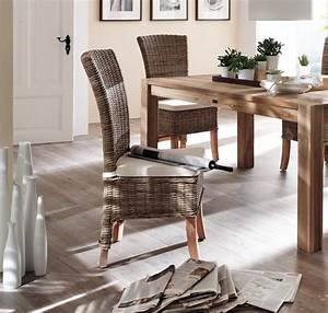 Chaise Rotin Design : lot 2 chaises en rotin tress collection salsa chaise chaise tabouret pouf meubles bois ~ Teatrodelosmanantiales.com Idées de Décoration