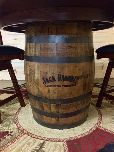Jack Daniels Whiskey Barrel Pub Table   Rustic   Dining Tables   by Mountain Top Furniture