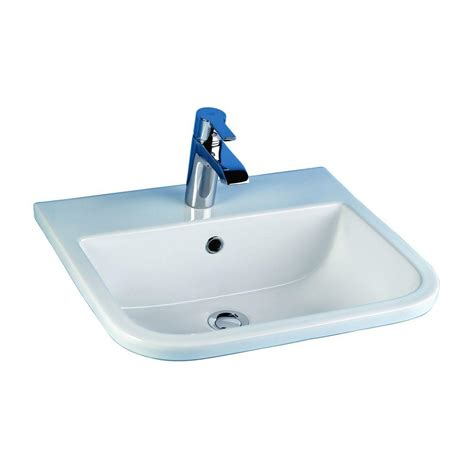 barclay products series 600 drop in bathroom sink in white