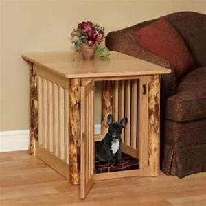 dog crate end table crate end tables and wood dog on With small dog crate furniture