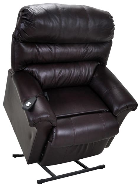 franklin lift and power recliners chocolate leather lift