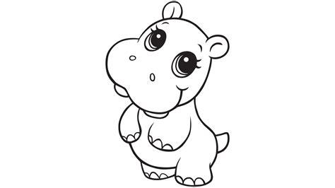 107 dibujos de Hipopótamos para colorear Oh Kids Page 5