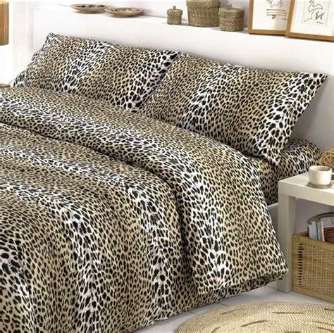 completo lenzuola matrimoniale leopardato flanella