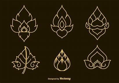 Thai Pattern Svg Vectors Traditional Tattoo Thailand