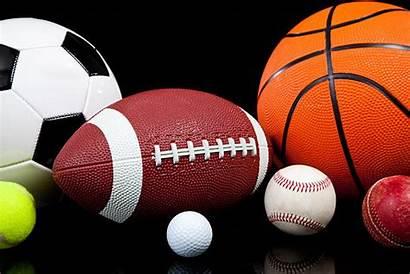Sports Balls Background Basketball Ball Football Assorted
