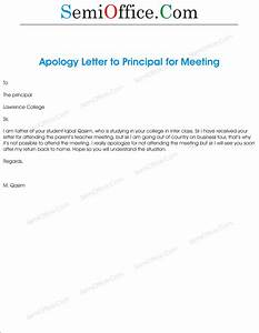 Apologized For No Attend In  Guardian Meeting