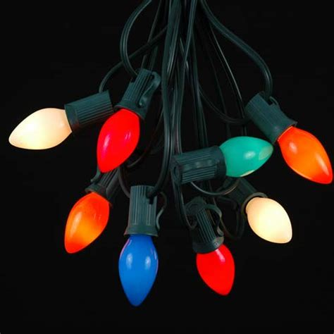 mini bubble light string 7 light traditional bubble light set novelty lights inc
