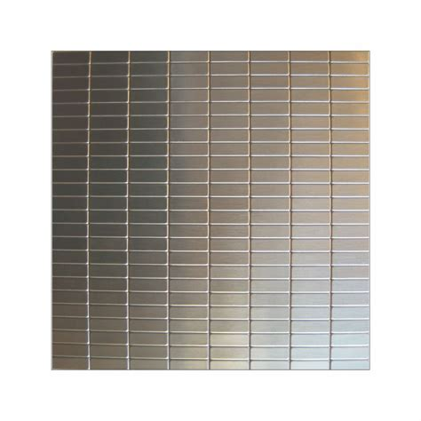 Metal Adhesive Backsplash Tiles by Inoxia Speedtiles Urbain Mosaic Self Adhesive Metal Tile