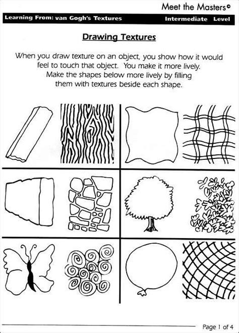 13 Best Images Of Texture Line Drawing Techniques Worksheet  Art Shading Techniques Worksheet