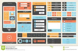 gui design flat ui design kit for smart phone royalty free stock images image 32844519