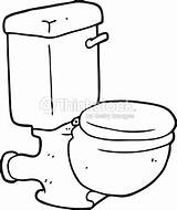 Toilet Cartoon Bathroom Clip Coloring Vector Similar Artist Bizarre sketch template