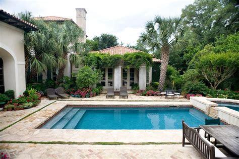 villa design pool mediterranean  spanish roof