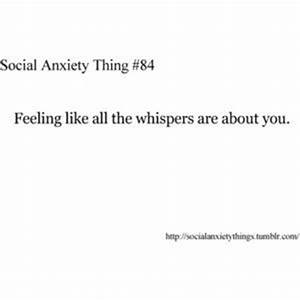 School Social A... Funny Social Anxiety Quotes
