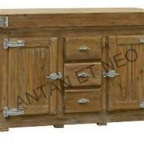 cuisine en vieux bois billot vieux bois ilot meuble de cuisine bil08