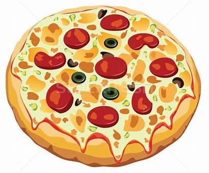 Pizza Vector Italian Clipart Kostenlos Illustration Background