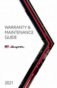 2021 Toyota Supra Warranty And Maintenance Guide Free