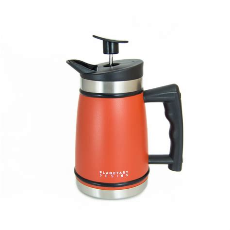 Ingeniously engineered to ensure that everything fits inside the mug. French Press with Bru-Stop™ | French press coffee maker, French press travel mug, Thermal coffee ...