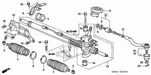 Upper And Lower Inner Steering Tie Rod End 53010 Sda A01
