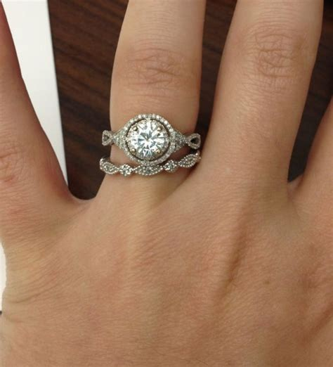 wedding band to fit halo engagement ring wedding bands