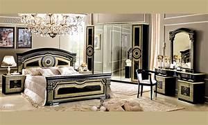 Italienische Möbel Klassisch : klassische italienische schlafzimmer schwarz gold in hochglanz aida camelgroup ebay ~ Pilothousefishingboats.com Haus und Dekorationen