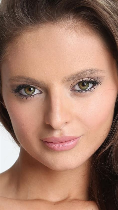 eyes green faces white background dana harem wallpaper