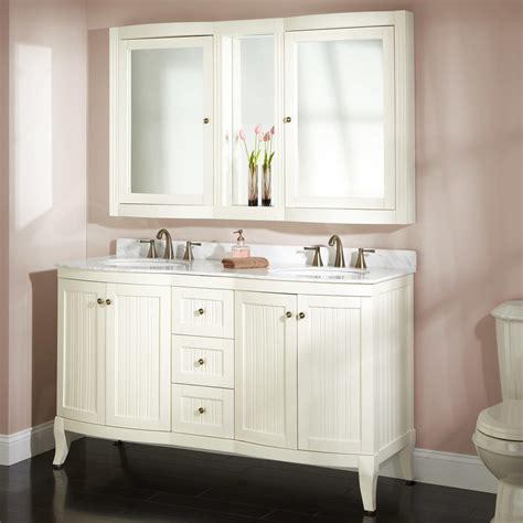 """60"""" Palmetto Creamy White Double Vanity Set Bathroom"""
