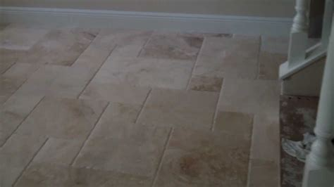 Travertine Tile On French Pattern