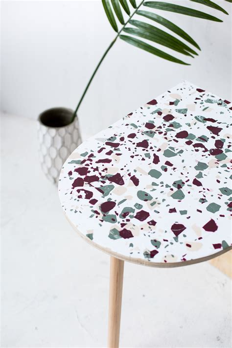 how to create a terrazzo print almost anything plus diy terrazzo concrete book ends fall