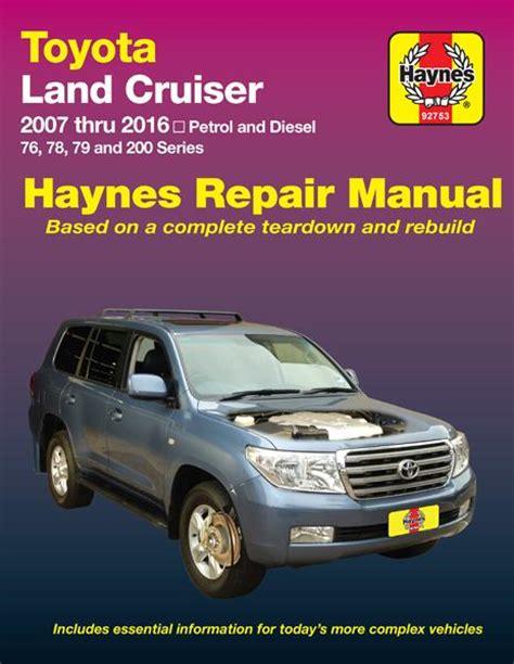 car manuals free online 1993 toyota land cruiser head up display toyota land cruiser petrol diesel 2007 2016 haynes service repair workshop manual landcruiser