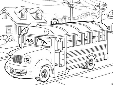 Kleurplaat Real Weel by School Coloring Page For Transportation