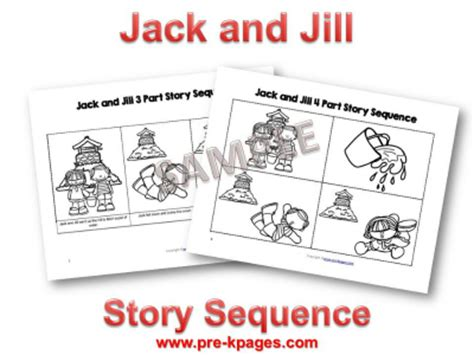 pre k nursery rhymes and pre kpages 183 | jack jill sequence pictures