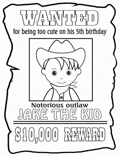 coloring posters printable wanted posters for coloring home