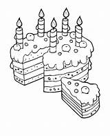 Cake Coloring Pages Birthday Slice Mom Happy Colouring Printable Serve Drawing Cupcakes Cakes Adult Sheets Cupcake Books Place Outlines Stamps sketch template