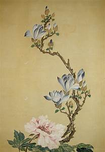 flower paintings | ... Japanese Peony, Magnolia, Kiku ...