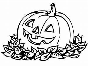 Calabaza descansando en hojas - Dibujalia - Dibujos para ...