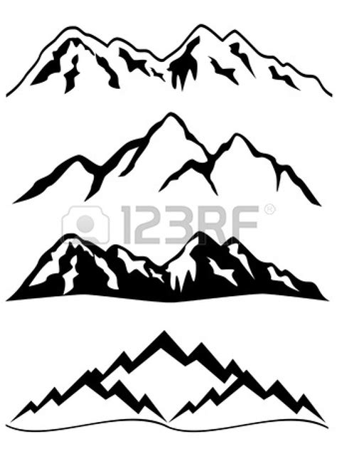 mountain clipart mountain ridge clipart mountain outline pencil and in