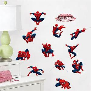 Aliexpresscom : Buy 3D Spiderman Wall Stickers For Kids ...