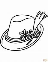 Hat Coloring Pages German Bavarian Printable Sun Pointer Drawing Santa Shorthaired Fedora Germany Getcolorings Getdrawings Clipartmag Colorings Categories sketch template