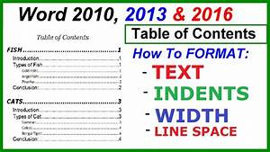 apa style table of contents format olalapropxco With word 2013 table of contents template