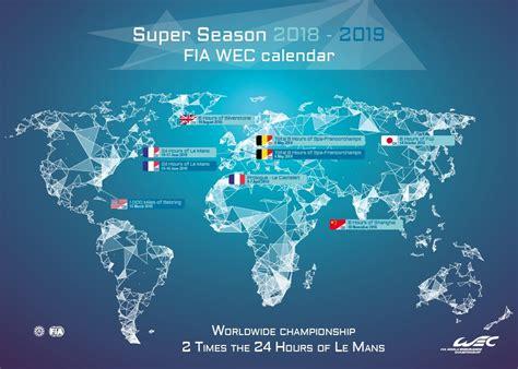 calendar fia world endurance championship