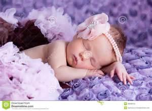 Sleeping Baby with Pink Flower Headband