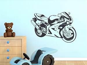 Wandtattoo Für Wohnzimmer : wandtattoo f r jungs aufkleber wandaufkleber f r wohnzimmer motorrad sport ebay ~ Buech-reservation.com Haus und Dekorationen
