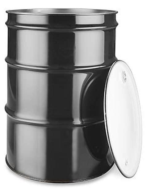 55GAL Buckets 55 Gallon Open Top Steel Drum with Lid | B